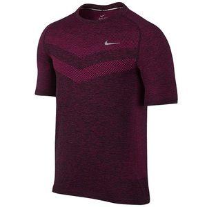 Nike Dri Fit Knit Short-sleeve Running Top